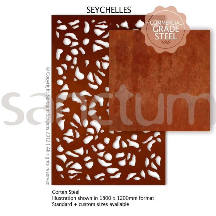 Seychelles design Sanctum Screens Corten Steel
