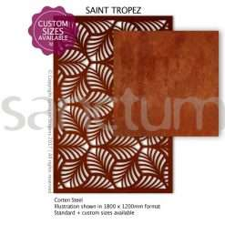 St Tropez design Sanctum Screens Corten Steel