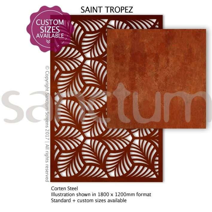 St Tropez design Sanctum Screens Corten Steel