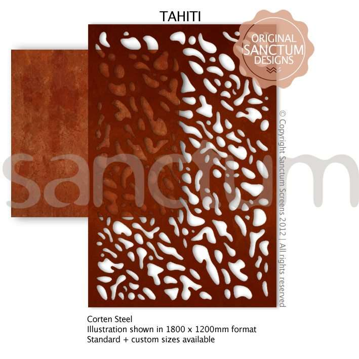 Tahiti design Sanctum Screens Corten Steel