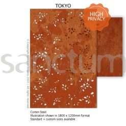 Tokyo design Sanctum Screens Corten Steel