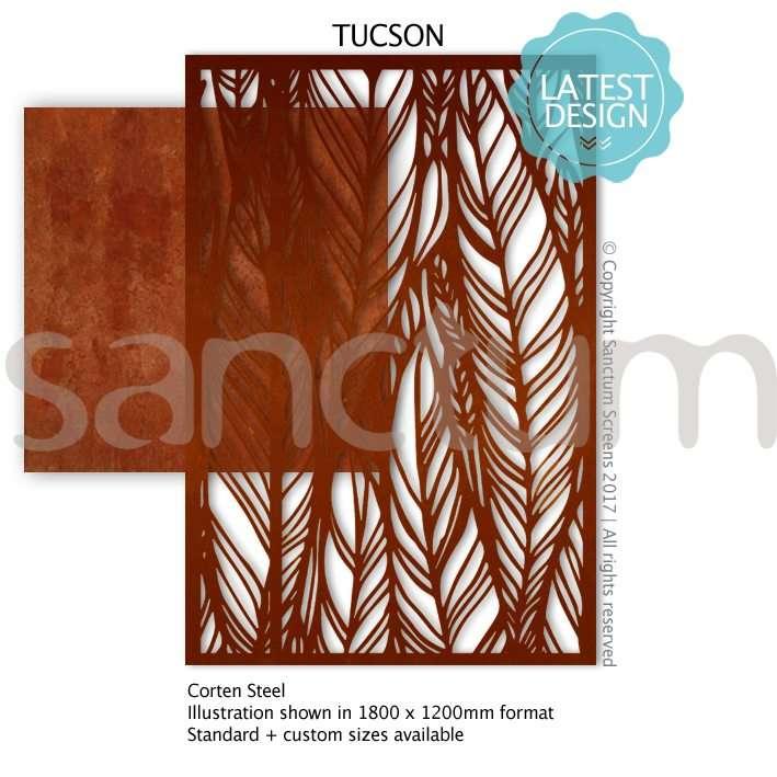 Tucson design Sanctum Screens Corten Steel