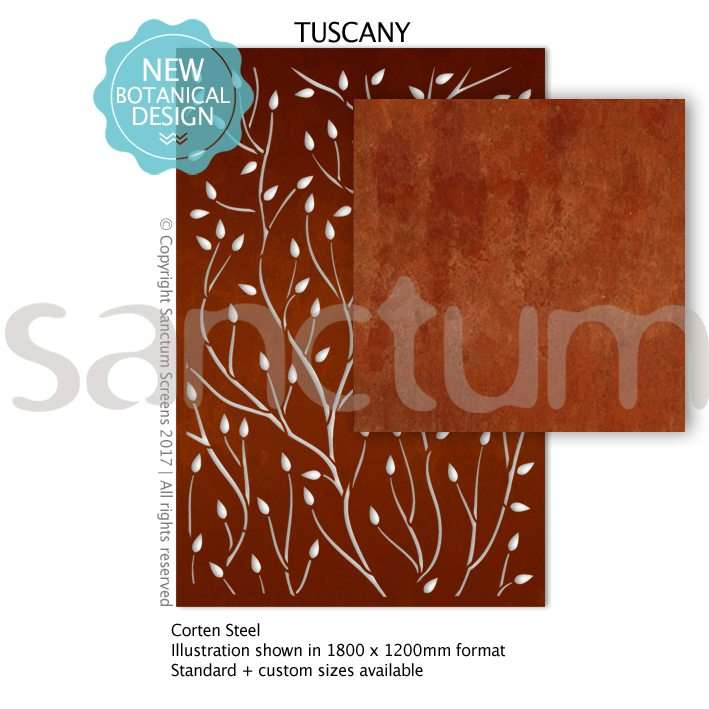 Tuscany design Sanctum Screens Corten Steel