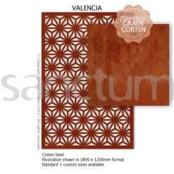 Valencia design Sanctum Screens Corten Steel