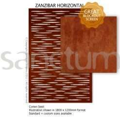 Zanzibar Horizontal design Sanctum Screens Corten Steel