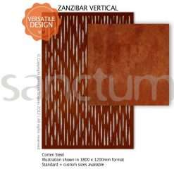 Zanzibar Vertical design Sanctum Screens Corten Steel