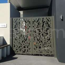 Decorative feature swing gates