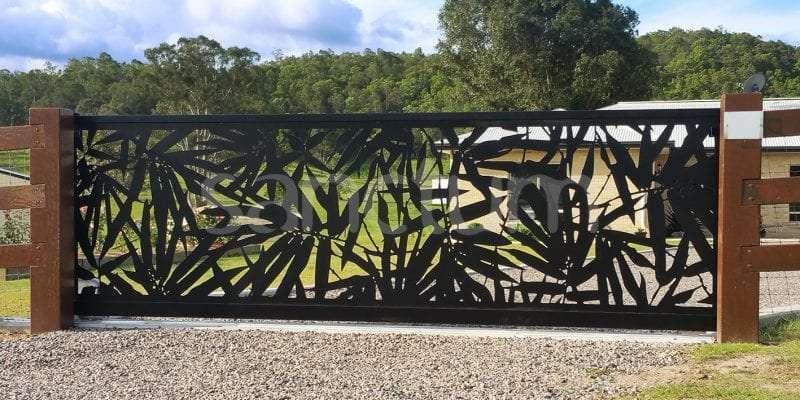 Saigon Holey sheet panel as sliding gate