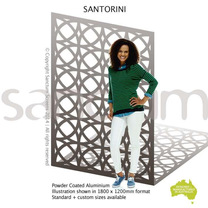 Santorini screen design