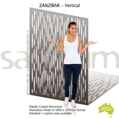 Zanzibar Vertical screen design
