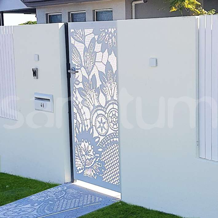 Perforated pool safe gate