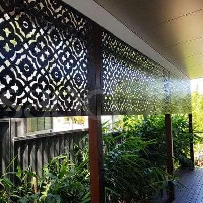 Marrakesh shade screens on verandah