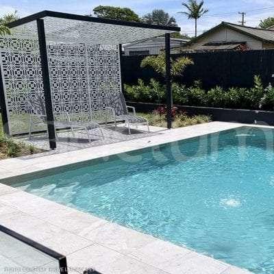 Portofino pool cabana shade screens