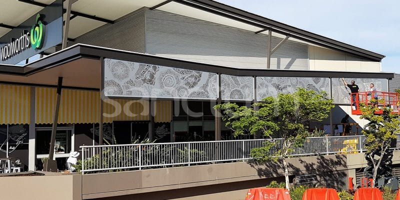 Atlantis matched Holey Sheet screens in commercial project