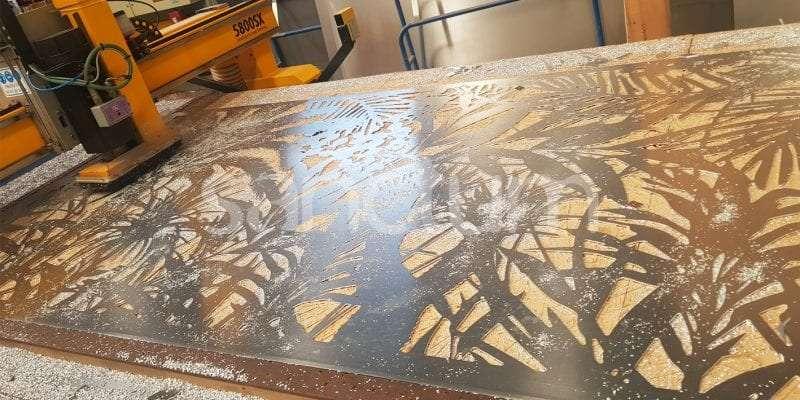 Jabiru Holey Sheet screen on cutting table