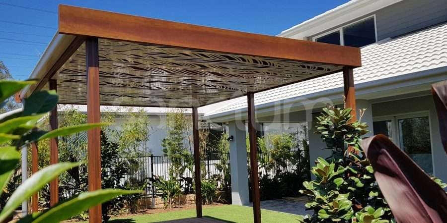 Tucson oversize screens fitted to underside of pergola