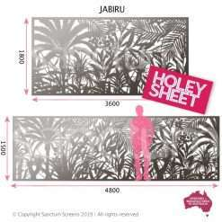 Jabiru Holey Sheet designs