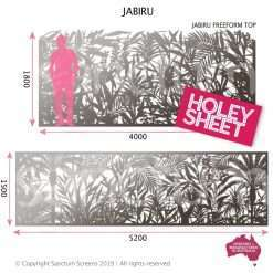 Jabiru holey sheet screen in freeform or standard spec