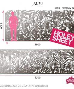 Jabiru holey sheet screen in freeform or standard spec