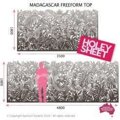 Madagascar freeform top holey sheet