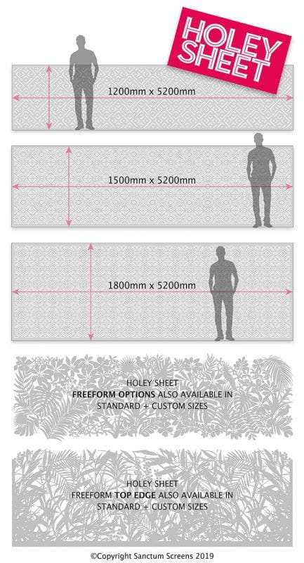 Comparing Holey Sheet screen sizes